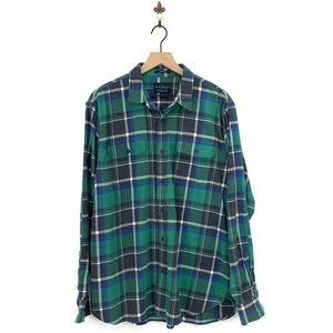 Lucky Brand Plaid Classic Fit Stretch Shirt XL